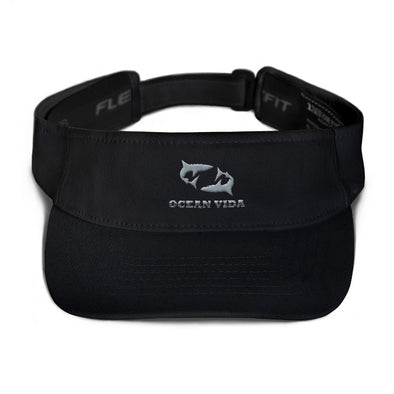 Black Visor with Gray Logo