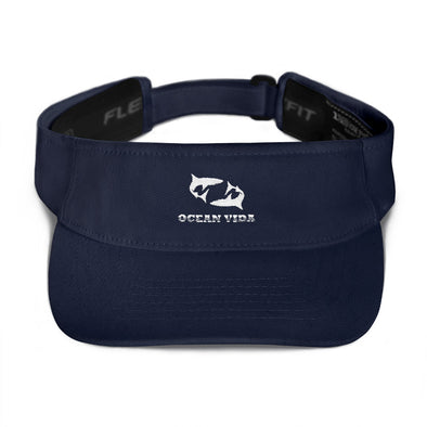 Navy Visor with White Logo