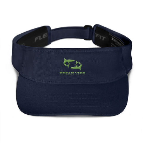 Navy Visor with Moss Green Logo