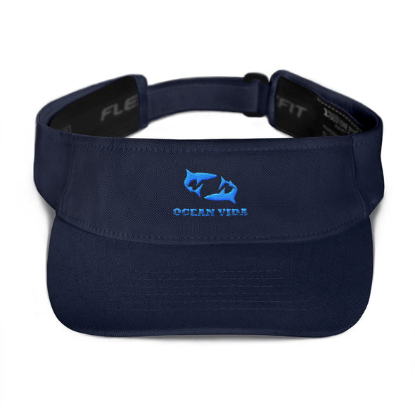 Navy Visor with Sky Blue Logo