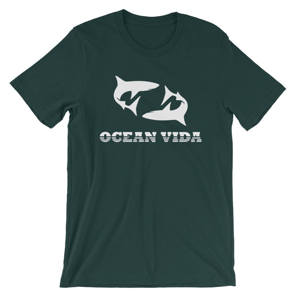 Ocean Vida Short-Sleeve Men's T-Shirt with White Logo