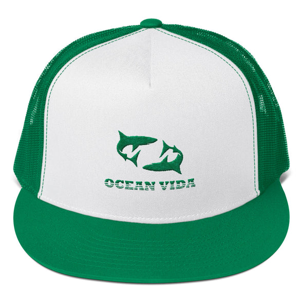 Green Foam Trucker Cap with Green Logo