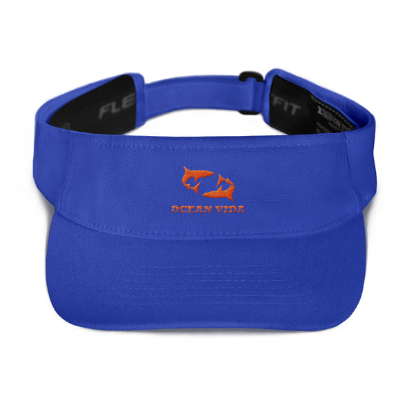 Blue Visor with Orange Logo
