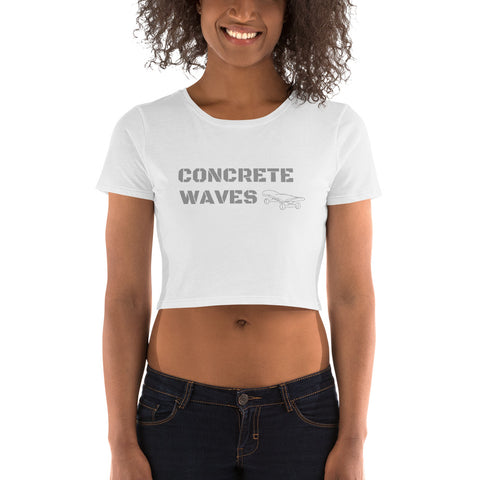 Women's Concrete Waves Crop Tee