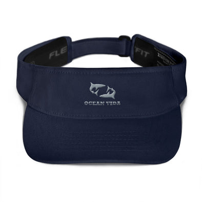 Navy Visor with Gray Logo