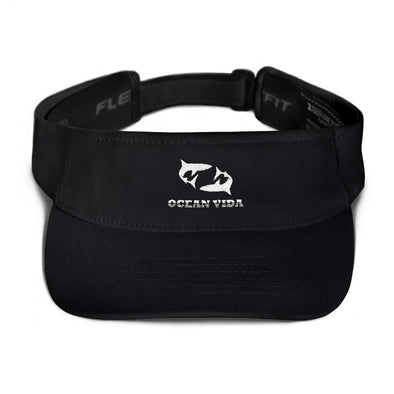 Black Visor with White Logo