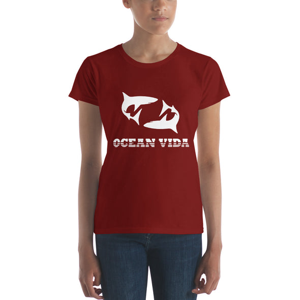 Ocean Vida Women's Short Sleeve T-shirt with White Logo