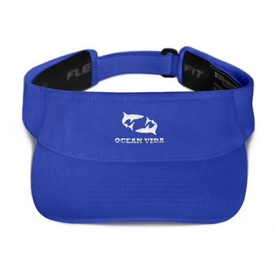 Blue Visor with White Logo