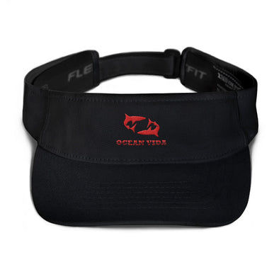 Black Visor with Red Logo