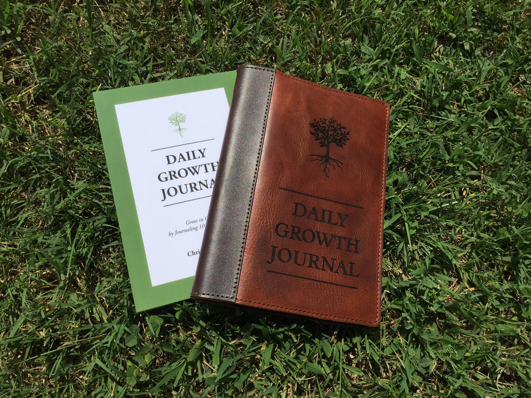 Daily Growth Journal With Leather Cover