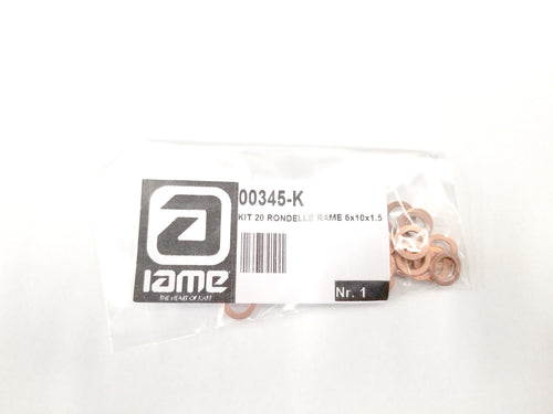 00345-K Kit 20 M6 Copper Washers
