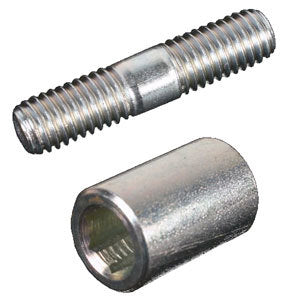 Kartech Stud and Cylindrical Nut - Packet of 3 Each