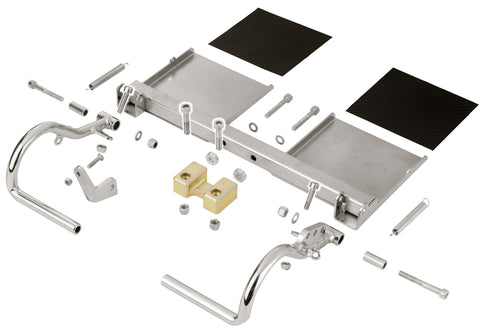 OTK Complete Chromium Plated Rudder Pedals for Rookie