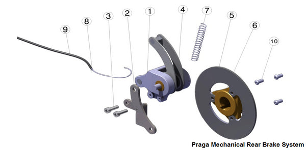 CS-BRK-CALMEC Praga Mechanical Rear Brake Caliper