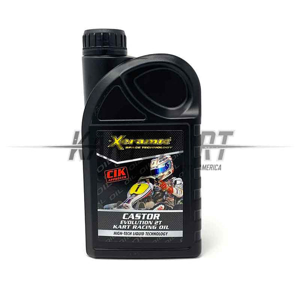 Xeramic Castor Evolution 2T Kart Racing Oil - 1 Liter