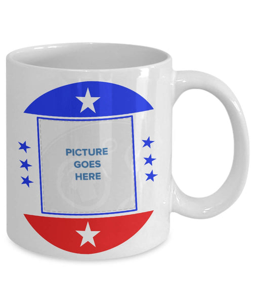 Want to run for president? Start by adding name and photo to this coffee mug - Fun gift idea!