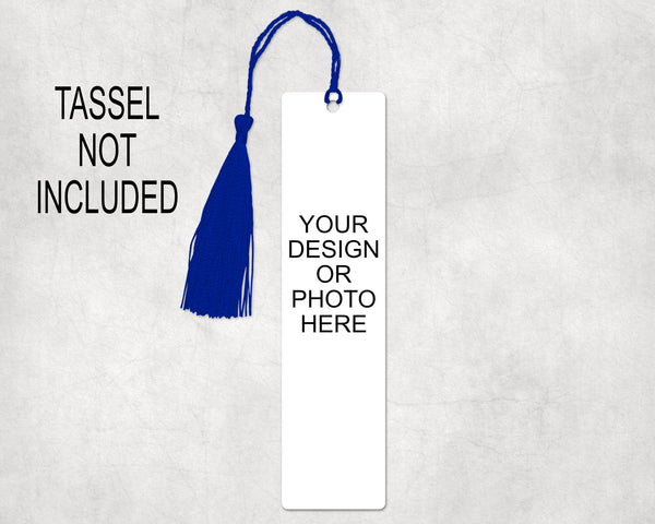 Create your own aluminum bookmark, 1.5x6 inches with hole in top to add decorative tassel or ribbon
