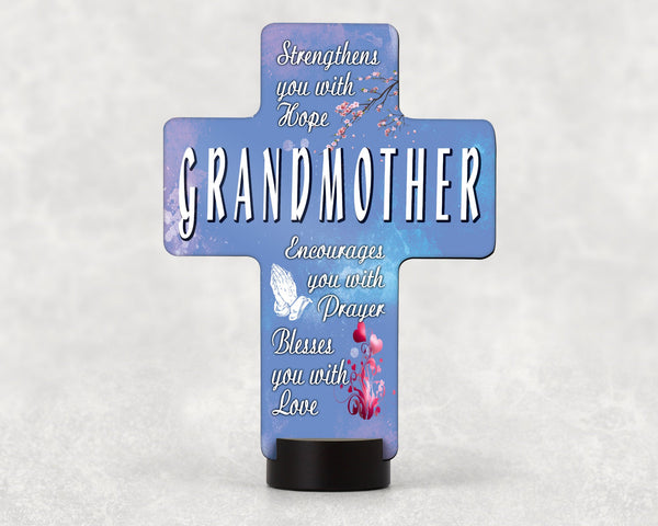 Grandmother cross decoration, decor featuring only Grandmother quote, can also be customized, Great gift