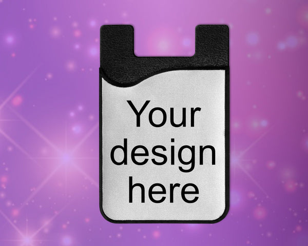 Phone wallet, card caddy  - personalize, add your own custom design or logo