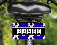 Soccer, sports design aluminum bicycle tag, bike license plate printed with name, great for kids