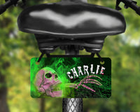 Creepy skull, horror theme design aluminum bicycle tag, bike license plate printed with name, great for kids