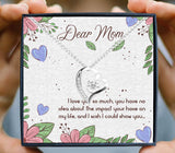 Love you mom, you impact my life so much, heart design boxed necklace