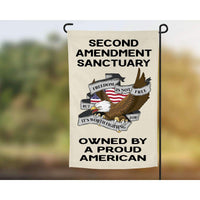 2nd Amendment Garden Flag - Owned by a proud American