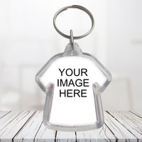 Photo or promotional key-chain - acrylic T-shirt shape keychain - Double sided , great for gifts, giveaways