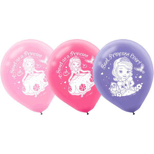 Disney Sophia The First Latex Balloons