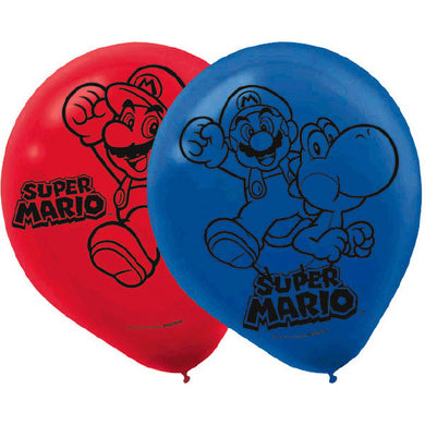Super Mario Brothers Latex Balloons