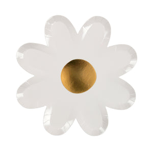 "Putting together a baby shower, summer party, or planning a flower-power gathering? Save yourself the hassle of all that washing up at the end of the day, and get yourself a couple of sets of these adorable daisy plates. Available in packs of eight, with beautiful gold foil centres, these pretty little plates are sure to add a touch of stylistic beauty to any table!  Pack of 8 Gold foil detail Size: 8"" x 8"""