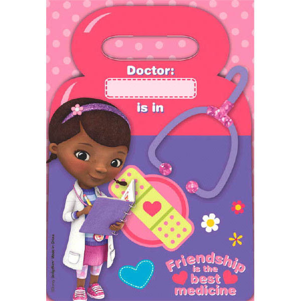 Disney Doc McStuffins loot bags, 8 per package,  9