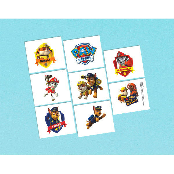 Paw Patrol Temporary Tattoos