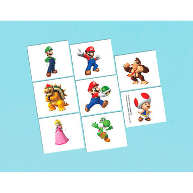 Super Mario Brothers Temporary Tattoos