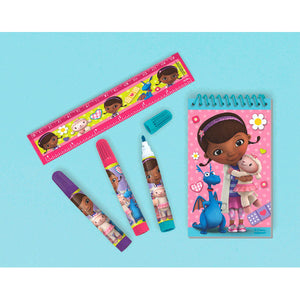 "Disney Doc McStuffins stationary set, 1 notepad 5"" x 3"", 3 markers and 1 6"" ruler"