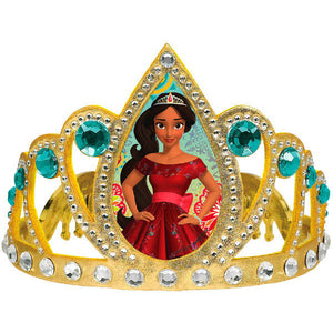 "Disney's Elena of Avalor Tiara! Perfect for your Princess!  size: 4"" x 4 3/4"", plastic with fabric and gems"