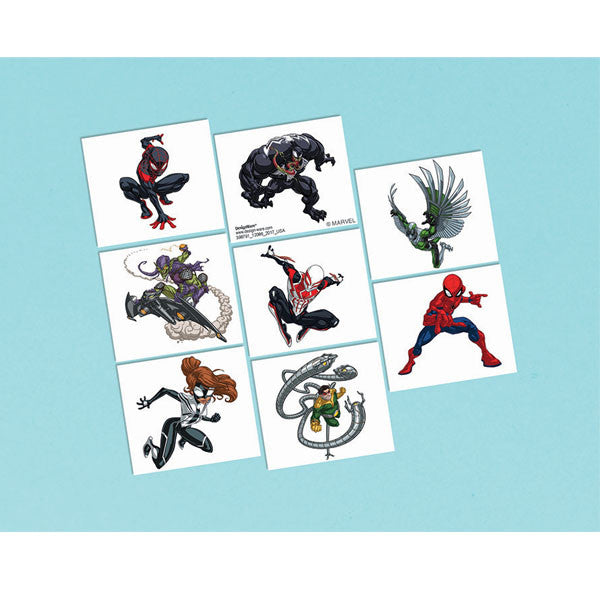 Spider-Man Webbed Wonder Temporary Tattoos