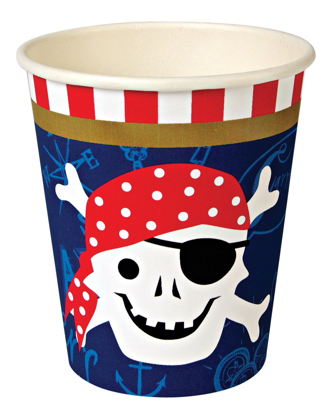 Ahoy There Pirate, 12 hot or cold party cups by meri meri