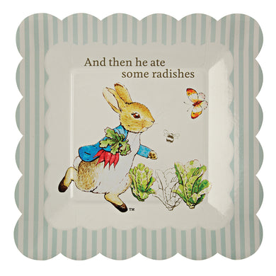 Though Peter Rabbit is now well over 100 years old, Beatrix Potter's charming creation is as beloved as ever, making him and his friends the perfect special guests for any celebration. That's why they feature on these simply delicious party plates. Available in packs of 12 and featuring the ever charming Peter Rabbit and the line,