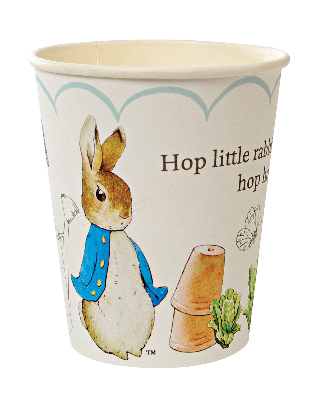 Though Peter Rabbit is now well over 100 years old, Beatrix Potter's charming creation is as beloved as ever, making him and his friends the perfect special guests for any celebration. That's why they feature on these sweet party cups. Available in packs of 12 and suitable for hot or cold drinks, these cups are decorated with the classic illustrations of Beatrix Potter, together with the never-to-be-forgotten line,