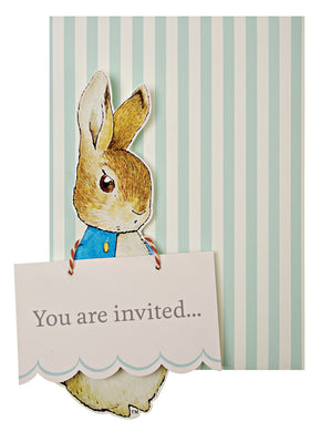 Peter Rabbit Party Invitations-Single invitations
