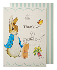 Peter Rabbit Thank You Cards- Individual by meri meri  9781625684448