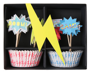 Super Hero Cupcake Kit by meri mier  9781682083581