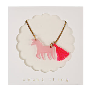 Unicorn Necklace by meri meri  9781633253186