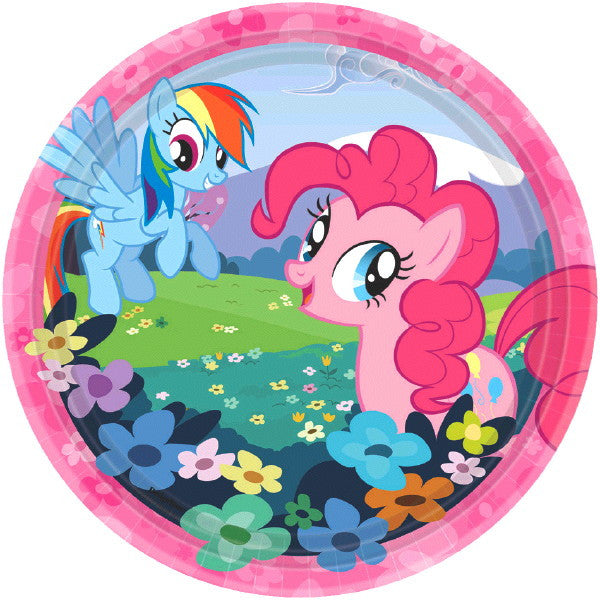 My Little Pony Round Plates