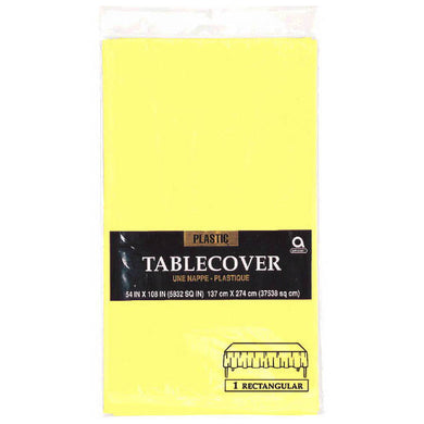 light yellow table cover