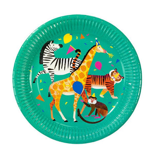 Your party will be wild and fun with these party animal plates!  8 plates per pack size 9""