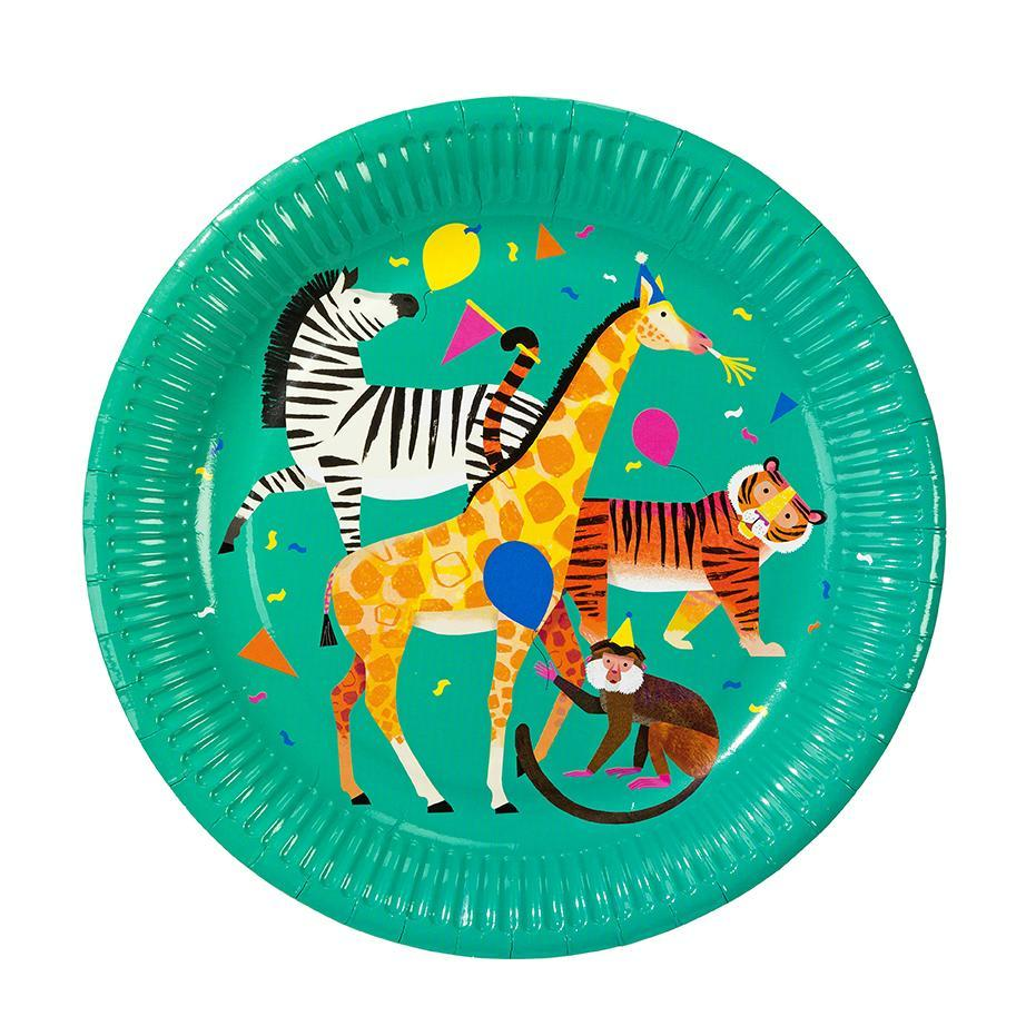 Your party will be wild and fun with these party animal plates!  8 plates per pack size 9