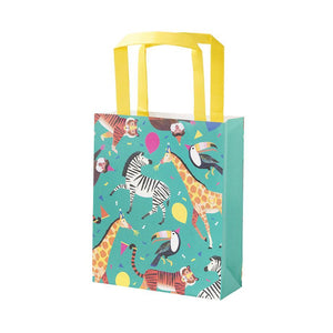 "Fill this treatbag with all sorts of tasty treats to make your guests go wild!  Size 7 1/2"" x 6"""