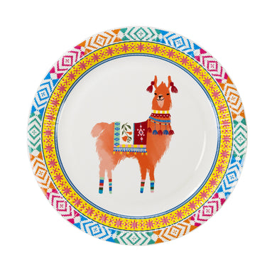 Want to brighten your party with summery feelings? Can't get over with adorable llamas? These round plates with llama design will be your perfect match! These plates come in 8 per pack. Diameter: 9